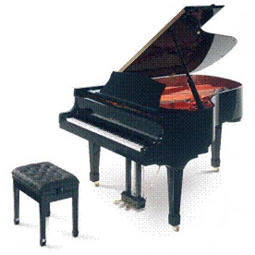 черный рояль для коттеджа